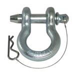 Smittybilt Quick Release D-Ring Shackle 3/4in Pin 4.75 Ton - Zinc