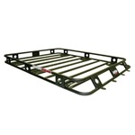 Smittybilt Defender Welded One Piece Roof Rack 4ft wide X 4ft long X 4in sides