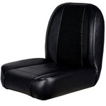 Smittybilt Low Back Bucket Jeep Seat Vinyl Black 55-76 CJ
