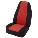 Smittybilt Neo Seat Covers Front Black/Red 91-95 Wrangler