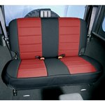 Smittybilt Neo Seat Covers Rear Black/Red 80-95 Wrangler