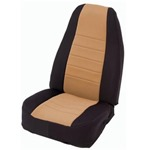 Smittybilt Neo Seat Covers Front Black/Tan 03-06 Wrangler & Unlimited