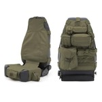 Smittybilt GEAR Seat Cover Front Olive Drab Green 76-12 CJ/YJ/TJ/LJ/JK