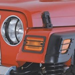 Smittybilt Euro HeadLight Covers Black 07-12 Wrangler JK 2/4-Door