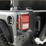 Smittybilt Euro Taillight Guards Black 07-12 Wrangler JK 2/4-Door