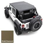 Smittybilt Extended Top Diamond Khaki 07-09 JK Wrangler & Rubicon 2-Door