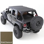 Smittybilt Extended Top Diamond Khaki 07-14 JK Wrangler & Rubicon 2-Door