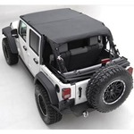 Smittybilt Extended Top Diamond Black 10-14 Wrangler JK 4-Door