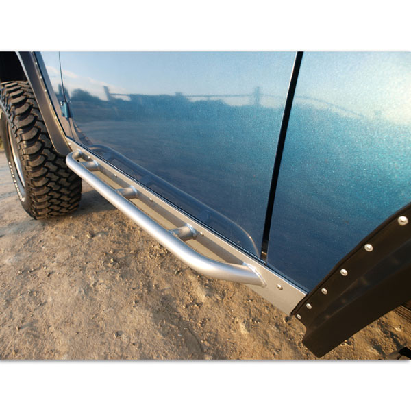 "Rock  Rails (Skis) 1/4"" Steel with NERF BAR Customizable Rocker Panel Protection (PAIR)"