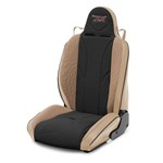 Mastercraft Baja RS Seat w/ Fixed Headrest Left Tan with Black Center & Brown Side Panels