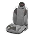 Mastercraft Baja RS DirtSport Seat w/ Fixed Headrest Right Smoke with Gray Center & Gray Side Panels