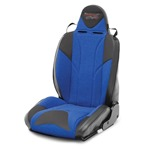 Mastercraft Baja RS DirtSport Seat w/ Fixed Headrest Left Black with Black Center & Blue Side Panels