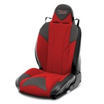 Mastercraft Baja RS DirtSport Seat w/ Adj Headrest Left Black with Black Center & Red Side Panels