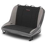 Mastercraft Rubicon Rear Bench Seat 46in 07-12 Jeep JK 4-Door - Smoke Vinyl & Black/Gray Fabric