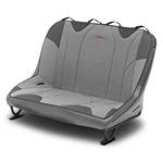 Mastercraft Rubicon DirtSport Bench Seat 46in 07-12 Jeep JK 4-Door - Smoke Vinyl & Gray Fabric