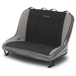 Mastercraft Rubicon Rear Bench Seat 40in 97-02 Jeep TJ Bolt-In - Smoke Vinyl & Black/Gray Fabric
