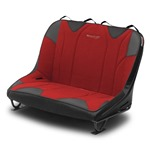 Mastercraft Rubicon DirtSport Bench Seat 36in 76-86 Jeep CJ Bolt-In - Black Vinyl & Red Fabric