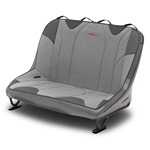 Mastercraft Rubicon DirtSport Bench Seat 40in 66-77 Bronco Bolt-In - Smoke Vinyl & Gray Fabric