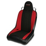 Mastercraft Rubicon Seat w/ Fixed Headrest 76-UP Jeep Black with Black Center & Red Side Panels