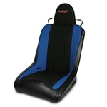Mastercraft Rubicon Seat w/ Fixed Headrest 76-UP Jeep Black with Black Center & Blue Side Panels