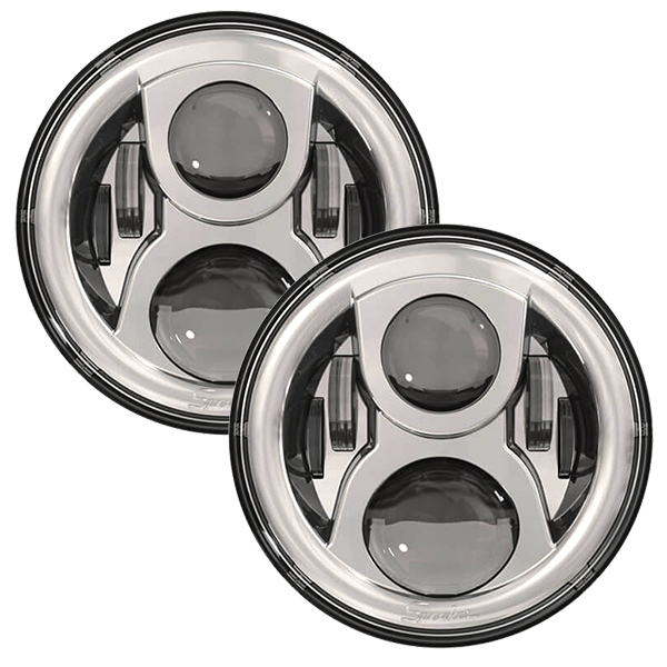 SPEAKER 8700 Evolution 2 LED Headlights Chrome Finish 7