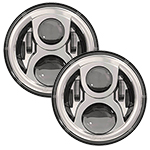 SPEAKER 8700 Evolution 2 LED Headlights Chrome Finish 7""