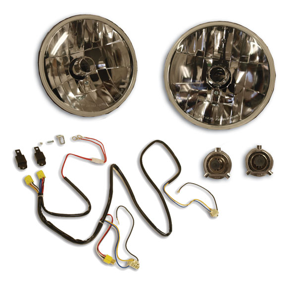 H4 Headlight Conversion Kit w/ Night Lighter Harness