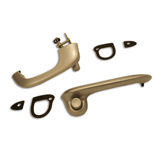 Satin Finish Outer Door Handle Set- Right & Left