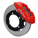 Wilwood Dynapro 6 Big Brake Front Brake Kit (Hat) Red 66-75 Bronco 15in Wheels w/ Lines