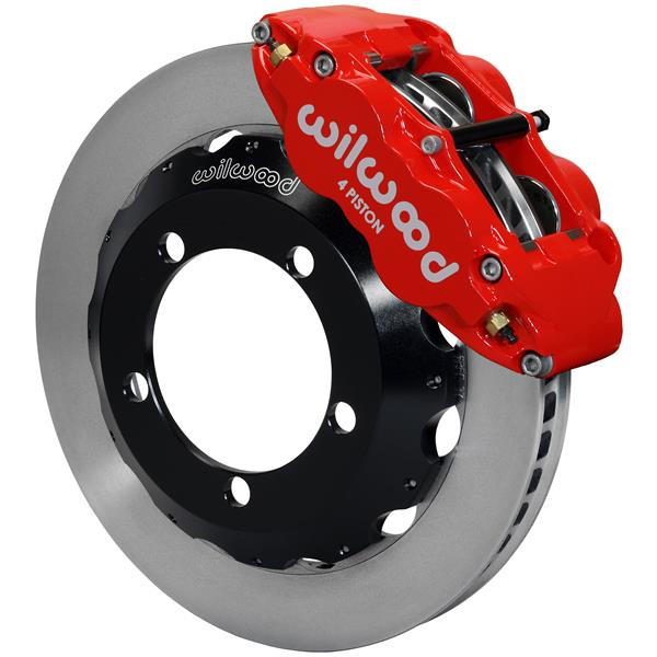 Wilwood Superlite 4R Big Brake Front Brake Kit 76-77 Bronco 17in Wheels Red w/ Lines