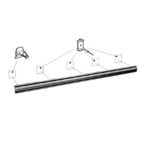 Door Chrome Molding - Right or Left - Aftermarket