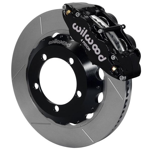 Wilwood Superlite 4R Big Brake Front Brake Kit 66-75 Bronco 18in Wheels Black w/ Lines