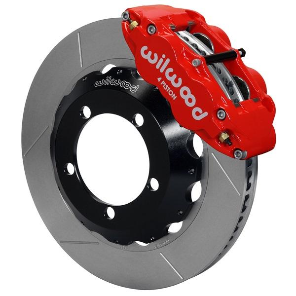 Wilwood Superlite 4R Big Brake Front Brake Kit 66-75 Bronco 18in Wheels Red w/ Lines