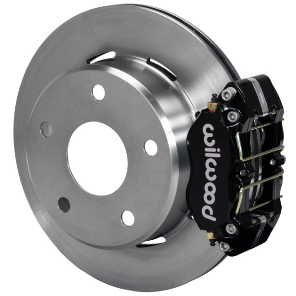 Wilwood Dynapro Lug Mount Rear Parking Brake Kit 66-75 Small Bearing Bronco 15in Wheels Black