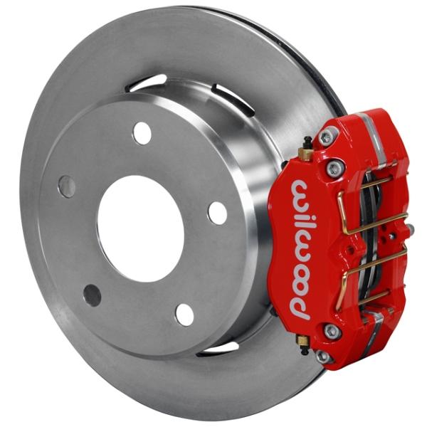 Wilwood Dynapro Lug Mount Rear Parking Brake Kit 66-75 Small Bearing Bronco 15in Wheels Red