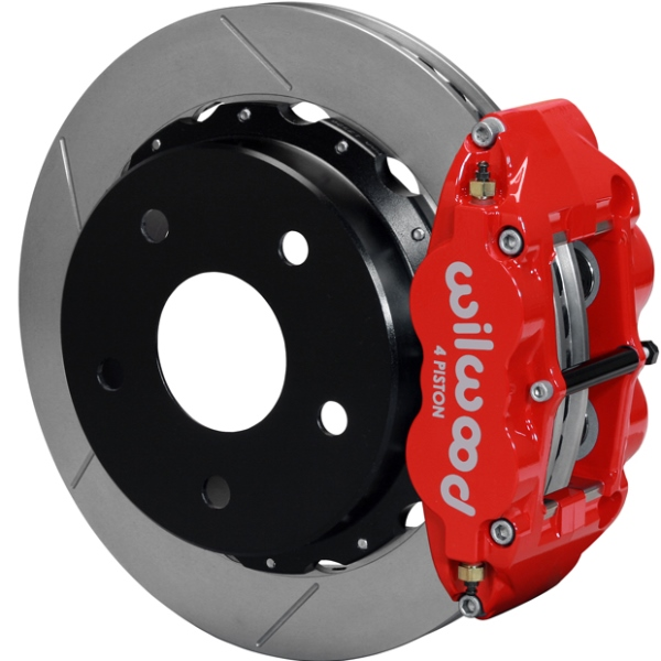 Wilwood Superlite 4R Big Brake Rear Parking Brake Kit 66-75 Small Bearing Bronco 17in Wheels Red