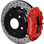 Wilwood Superlite 4R Big Brake Rear Parking Brake Kit 66-75 Small Bearing Bronco 17in Wheels Drilled