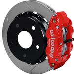 Wilwood Superlite 4R Big Brake Rear Parking Brake Kit 76-77 Bronco 18in Wheels Red