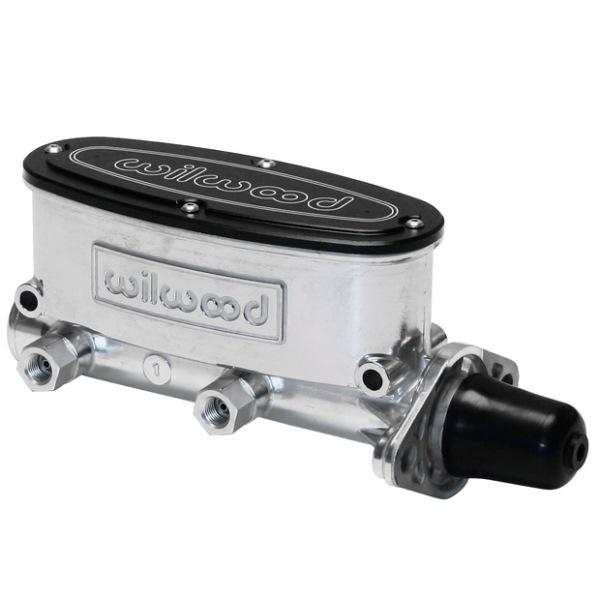 Wilwood Aluminum Tandem Master Cylinder 1-1/8 inch bore media burnished