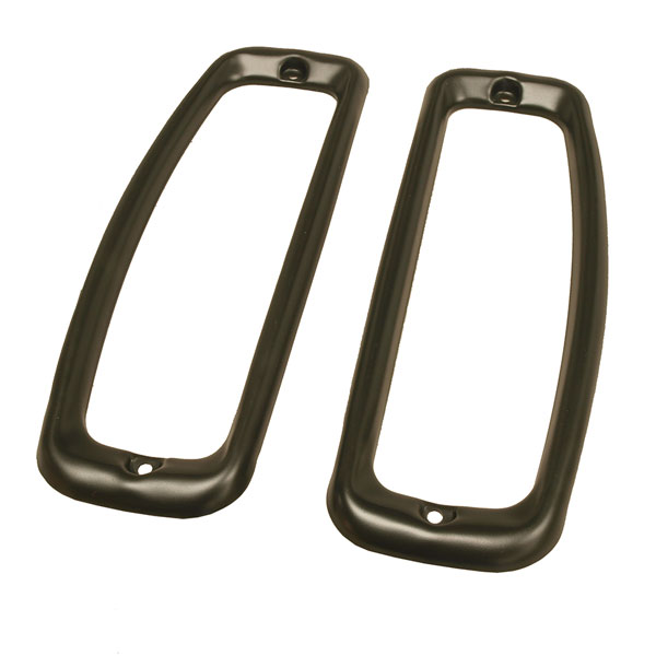 Black Finish Tail Light Lens Bezel Pair