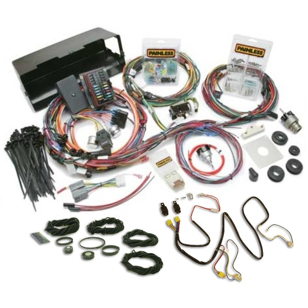 Painless Wiring Harness With Night Lighter Headlight Harness & Loom Kit