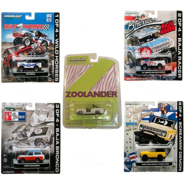 Limited Edition Bronco Set of 5 From Greenlight Collectibles