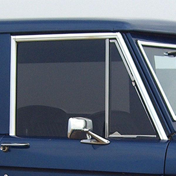 Chrome Door Window Frame Molding Set Does Both Doors