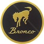 Bucking Bronco 1 3/8 Inch Round Emblem