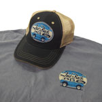 Laid Back Blue Oval Cool Bronco Hat