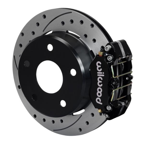 Wilwood Dynapro Lug Mount Rear Parking Brake Kit 66-75 Lg Bear Bronco w/11x1 3/4 drums 15in Wheel Bl
