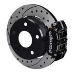 Wilwood Dynapro Lug Mount Rear Parking Brake Kit 66-75 Lg Bear Bronco w/11x1 3/4 drums 15in Wheel Bl