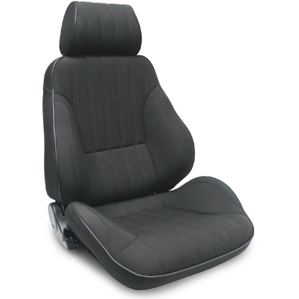 ProCar Rally Seat Black Canvas w/ Sliders
