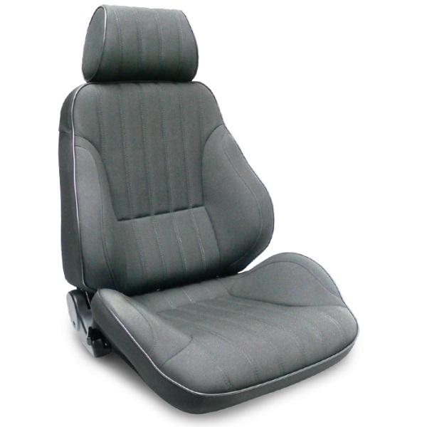 ProCar Rally Seat Grey Canvas w/ Sliders