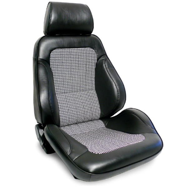 ProCar Rally Seat Houndstooth w/ Sliders